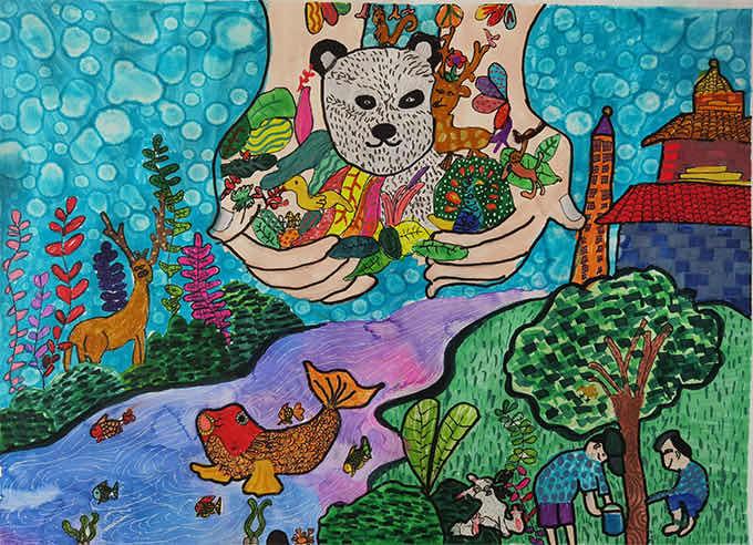 我是自然创想家|生物多样性大型雕塑主题彩绘公益活动优秀作品线上展·小画家系列(六)