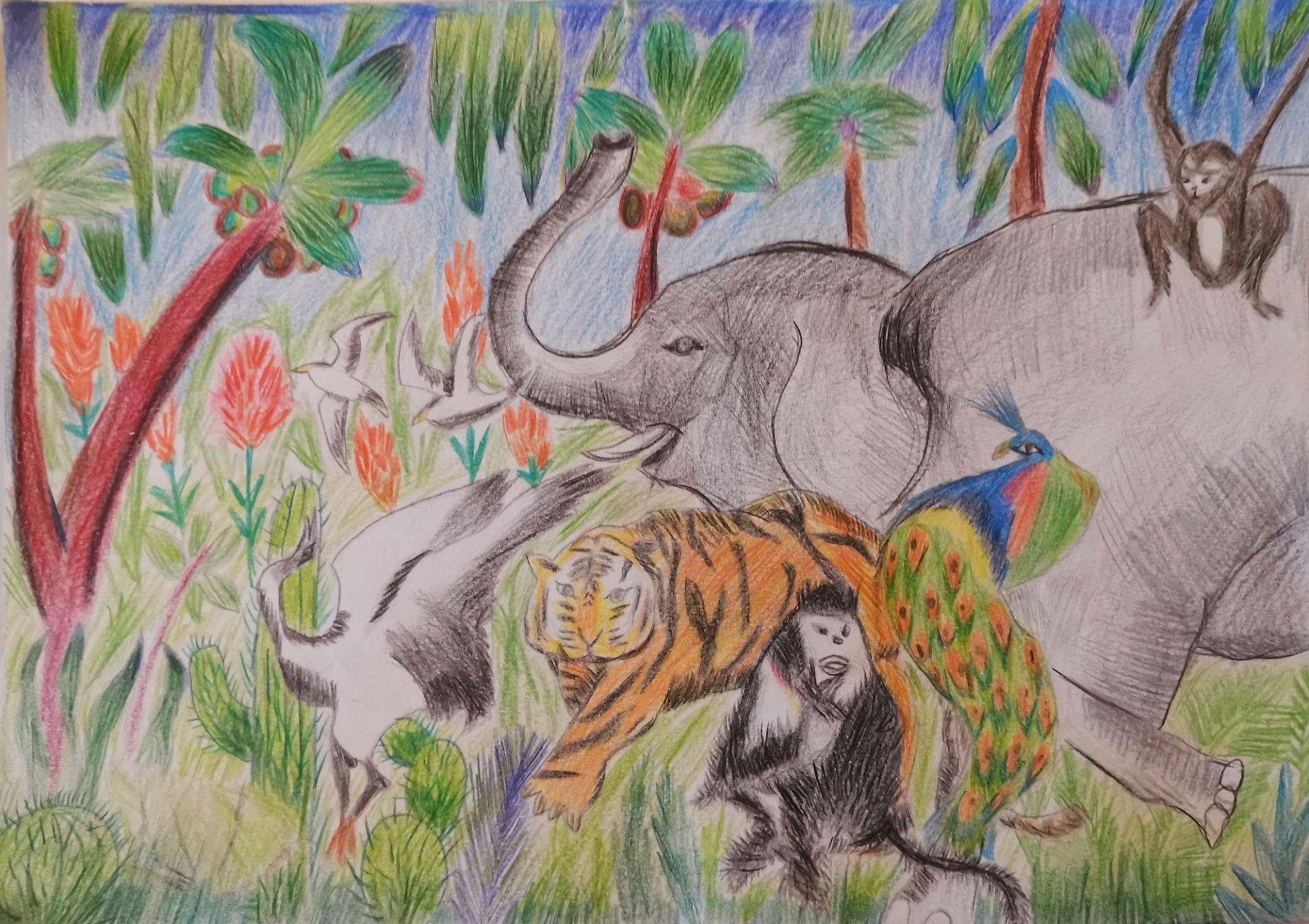 我是自然创想家|生物多样性大型雕塑主题彩绘公益活动优秀作品线上展·小画家系列(五)