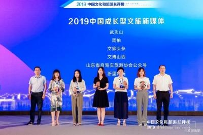 """喜报!文旅头条荣获""""中国成长型文旅新媒体""""大奖"""