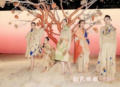 内蒙古沙漠日出搬到上海老码头 以智慧服装设计制造诠释可持续发展