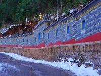 寺院掠影   雪后的丽江文峰寺